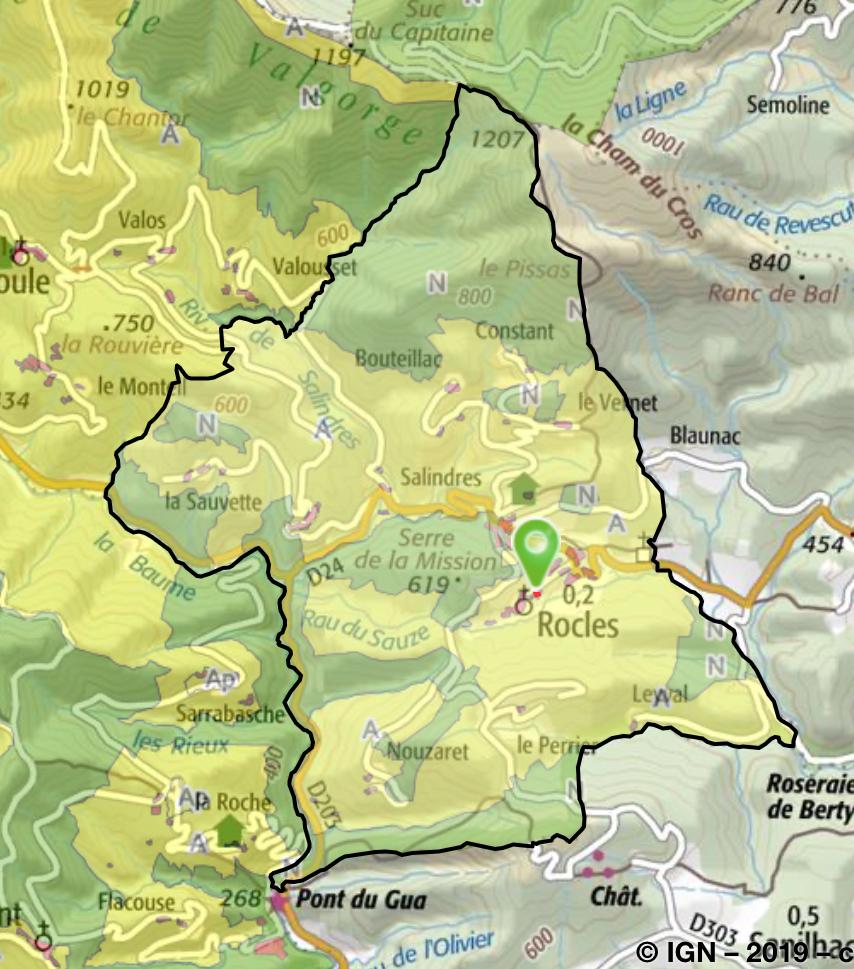Le site permet de superposer le zonage du PLUI à différents fonds de carte, notamment celle du cadastre, ou les photos aériennes. Les différentes couleurs (voir légende du PLUI), permettent de délimiter les différentes zones du PLUI, rouge pour urbanisables, vert pour espace naturel, et jaune pour zone agricole.